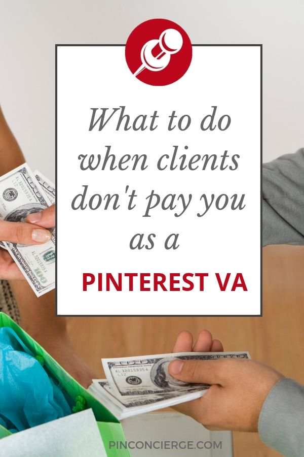 Tips for billing clients as a freelance Pinterest Virtual Assistant, how to deal with clients that don't pay and tips for setting your pricing all in one podcast episode. #pinconcierge #virtualassistant #pinterestVA