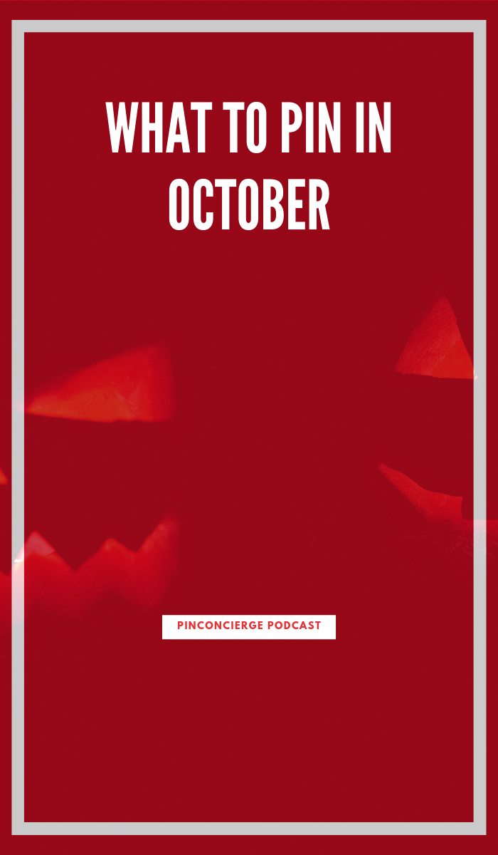 Tips for what to scheduling in your pinterest marketing in the month of October to get the best results for every major niche in Pinterest including: fashion, parenting, weddings, travel, food and more. #pinterestmarketing #pinconcierge