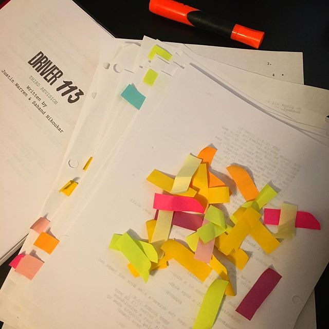 Script party confetti 🎉 #WhereIsDriver113 . . . #noir #filmnoir #psychological #thriller #indiefilm #privacy #surveillance #followed #paranoia #confetti