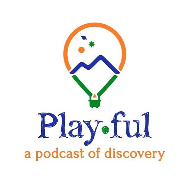 Playful has a new logo! ☺️🌍🌌💃🏻🏕🎶🎈✨ #playfulthepodcast #season1 #comingsoon #podcast #play #learn #science #nature #wonder #travel #climb #dance #explore #breathe #curiosity #listen #connect #discover #discovery