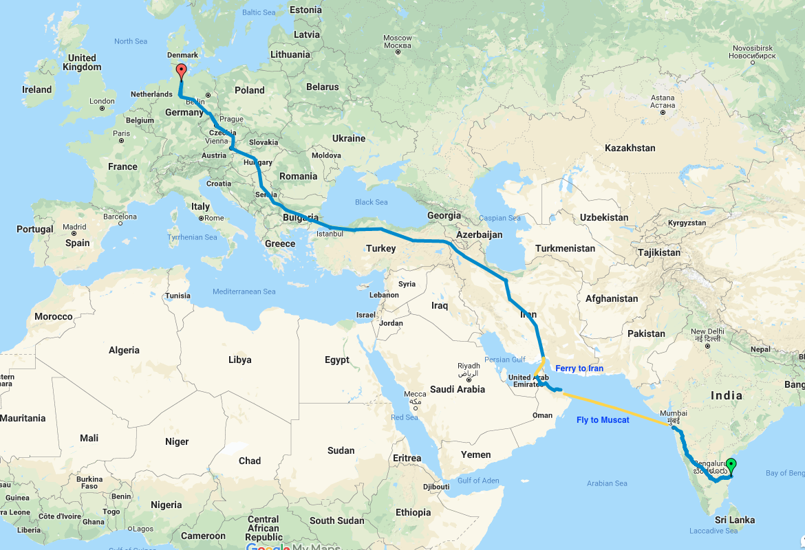 *Tentative route. Subject to change based on weather, security permissions, visas, etc