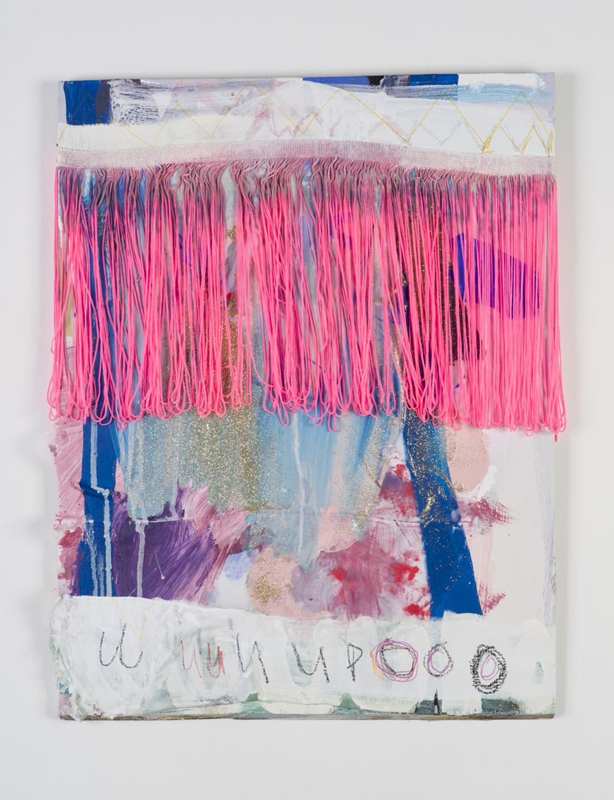 UUUUPPPOOOO PAINT , 2017 textile on board 50cm X 65cm