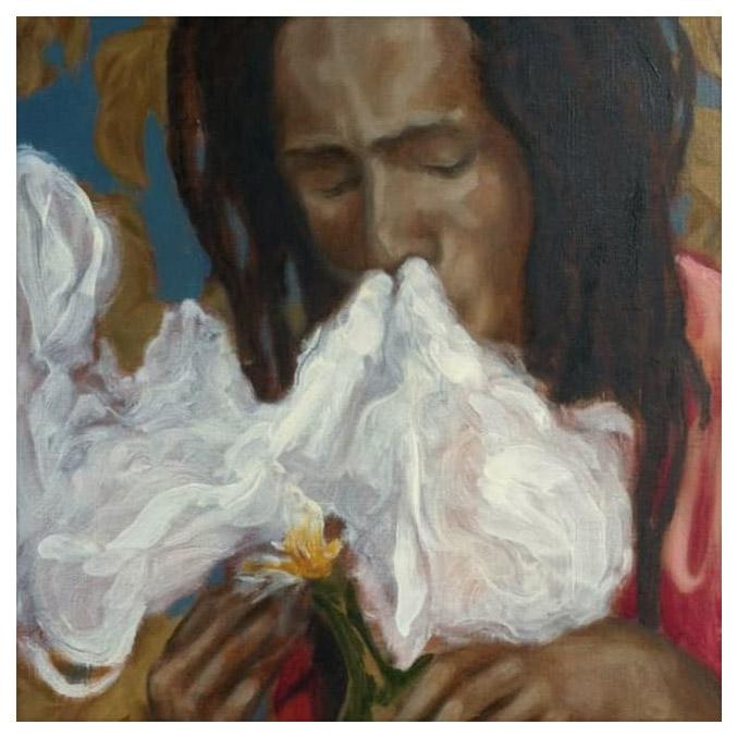 Rococo Rasta , 2015  Oil on canvas, 60cm x 46cm