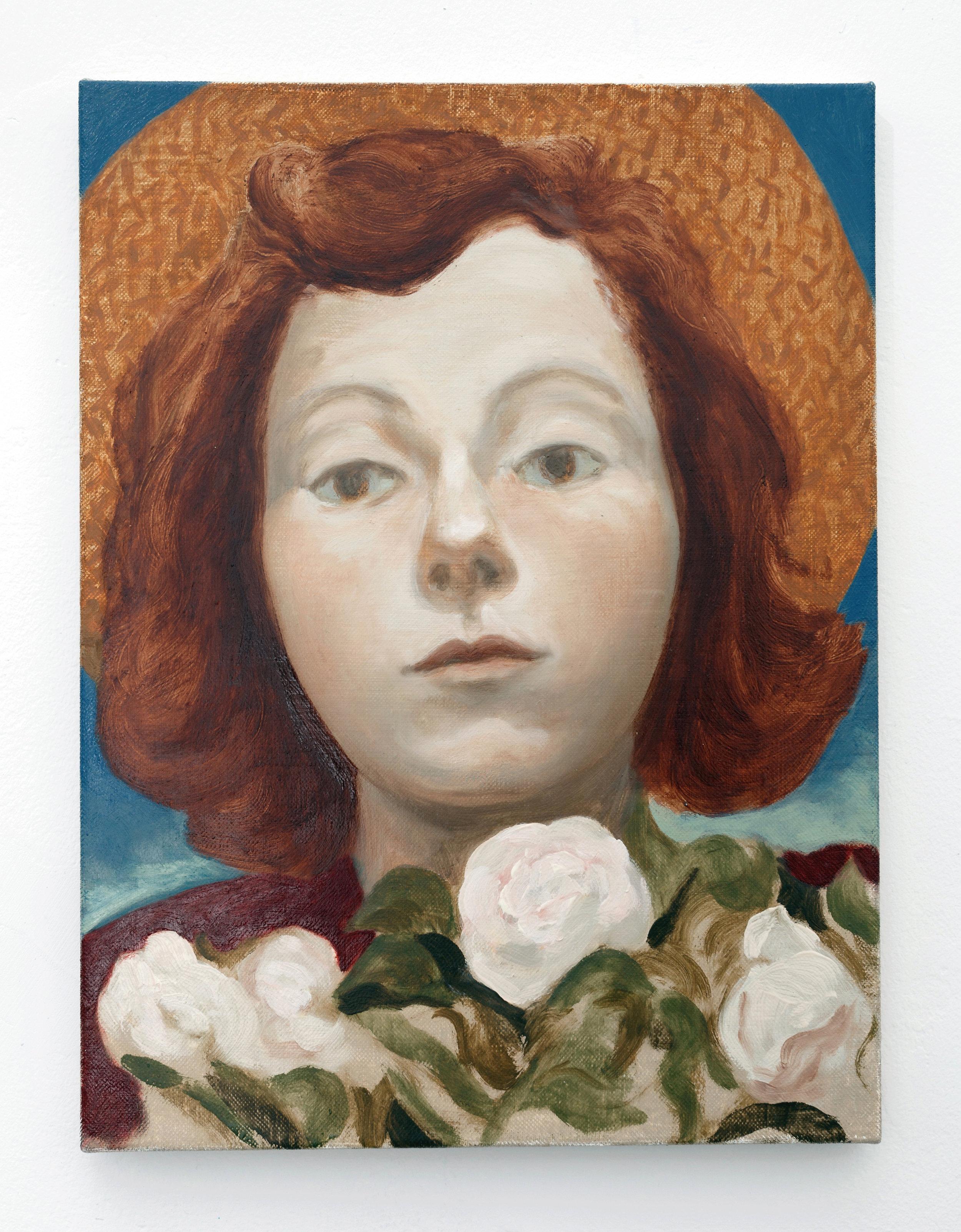 The gardener,  2018 Oil on linen, 40cm x 30 cm