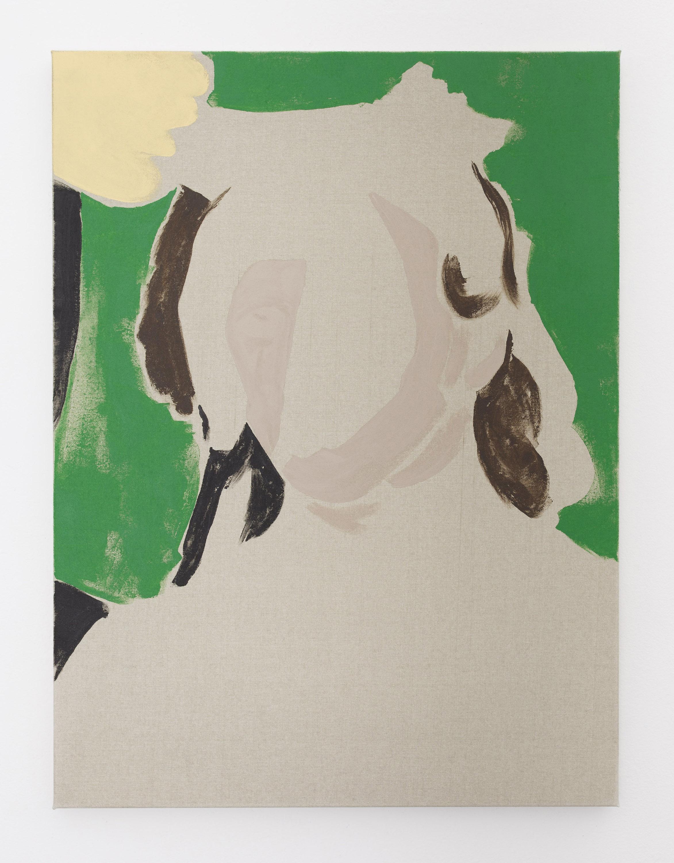 like light and cloud-shadows , 2018, acrylic on polyester, 68.5 x 51 cm