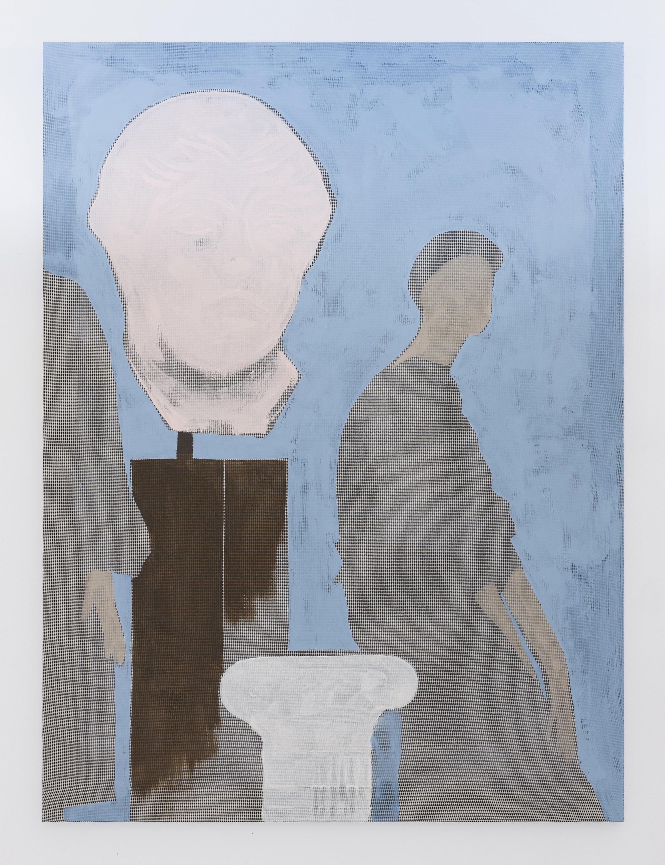 through the abundance of its pasts , 2019, acrylic on cotton, 137 x 102 cm