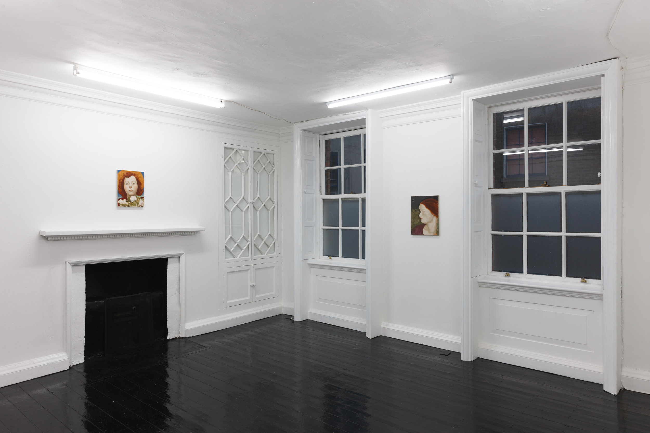 Six Portraits  exhibition install Berlin Opticians Gallery