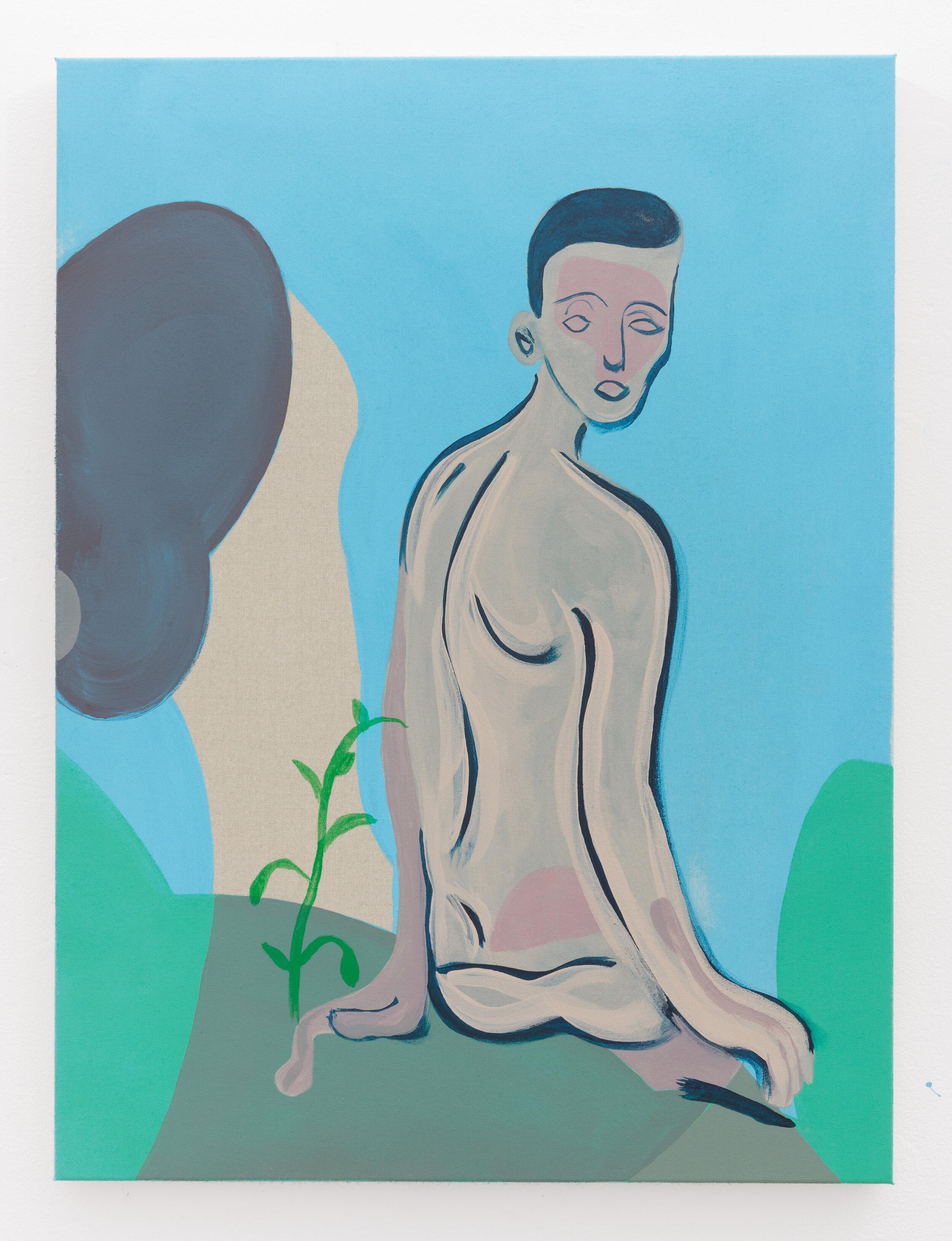 Cedalion , 2018. Acrylic on polyester, 68.5 x 51 cm.