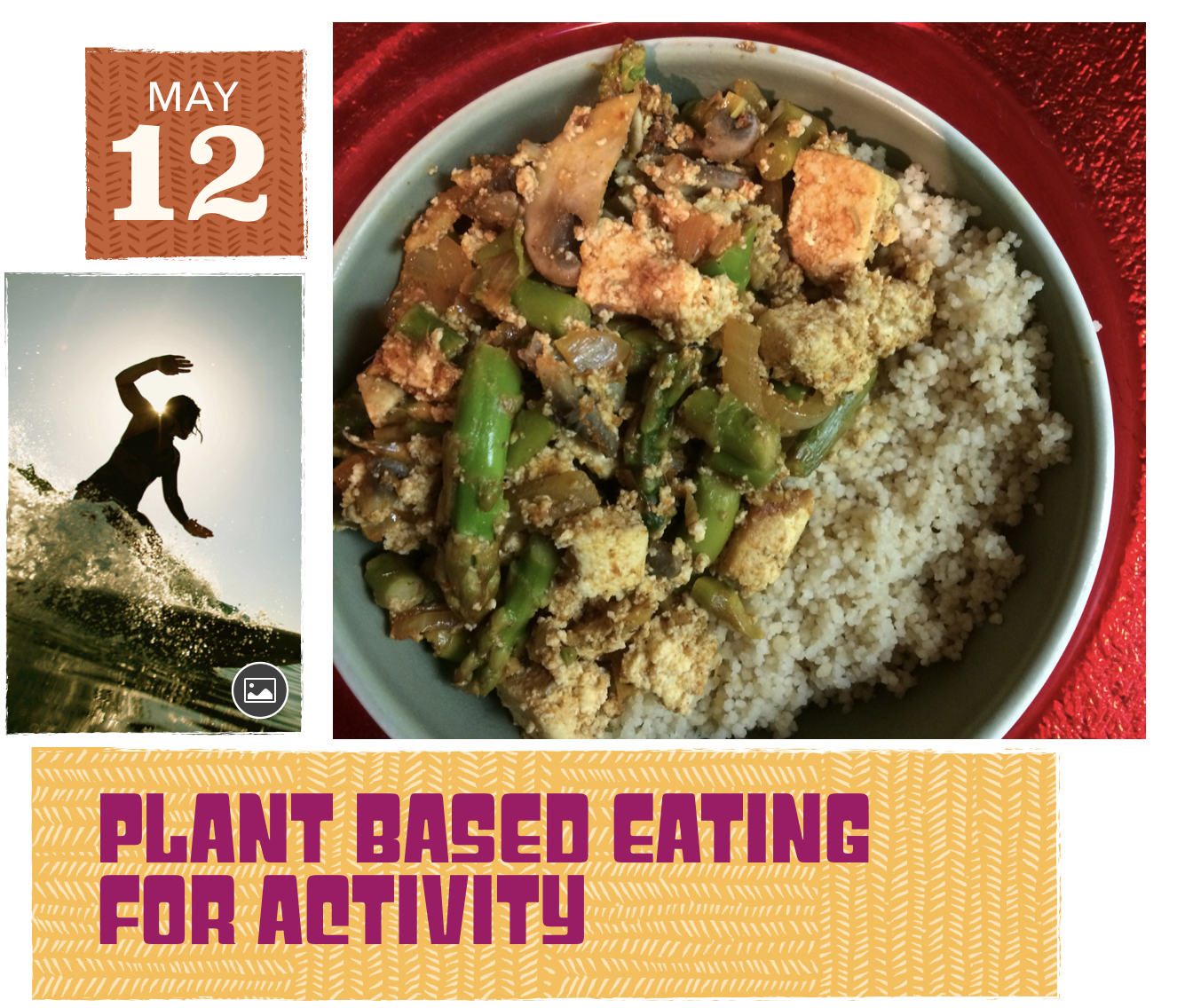 A lecture and guide on how to optimize plant based eating for active people.   -Learn the benefits of a balanced, plant based diet  -Learn how to include foods that can boost performance and recovery  -Learn the small steps to take that make the greatest impact  -Recipe ideas and more   Date and Time: May 12th From 11am-12pm    Where: 119-412 Willowgrove square    Cost: Free but donations accepted :)