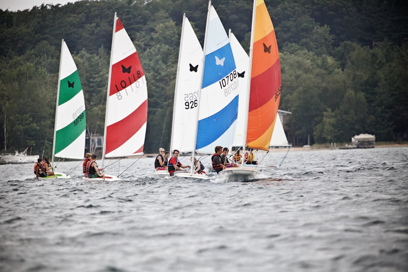 The Butterfly sailboat was introduced in 1962 and has found its way to cottages as a vacation boat, at home as a family recreation boat, in yacht club programs as a very successful junior training boat, and in racing, where the class has men, women and youth all competing on a boat where the biggest single difference is the sailor.