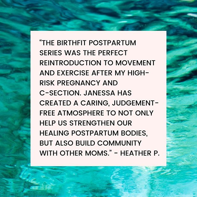 "Thank you Heather for sharing your experience from the BIRTHFIT Postpartum Series (read on below). Our next series begins Wednesday, 9.4. Click the link in bio to register! ⁣ ""⁣⁣The BIRTHFIT Postpartum series was the perfect reintroduction to movement and exercise after my high-risk pregnancy and c-section. Janessa has created a caring, judgement-free atmosphere to not only help us strengthen our healing postpartum bodies, but also build community with other moms. ⁣ ⁣ The Postpartum Series was instrumental in helping me reconnect with my core and pelvic floor and regain my confidence that my body was healing and strong enough to begin exercising again. ⁣ ⁣ I cannot recommend this program enough! Having this opportunity to reconnect with and strengthen your body after having a baby is something all women should be encouraged to do. Regardless of your previous exercise or pregnancy experience, you are truly in the most capable hands with BIRTHFIT Ithaca!"" - Heather P.⁣ ⁣ #BIRTHFIT #Fitness #Nutrition #Mindset #Connection #BIRTHFITIthaca #PostpartumSeries #PostpartumIsForever #MovementIsLife #UnitedInLove @birthfit_ithaca_ny @birthfit @birthfitcoach @birthfitprofessional @pallas.ithaca"