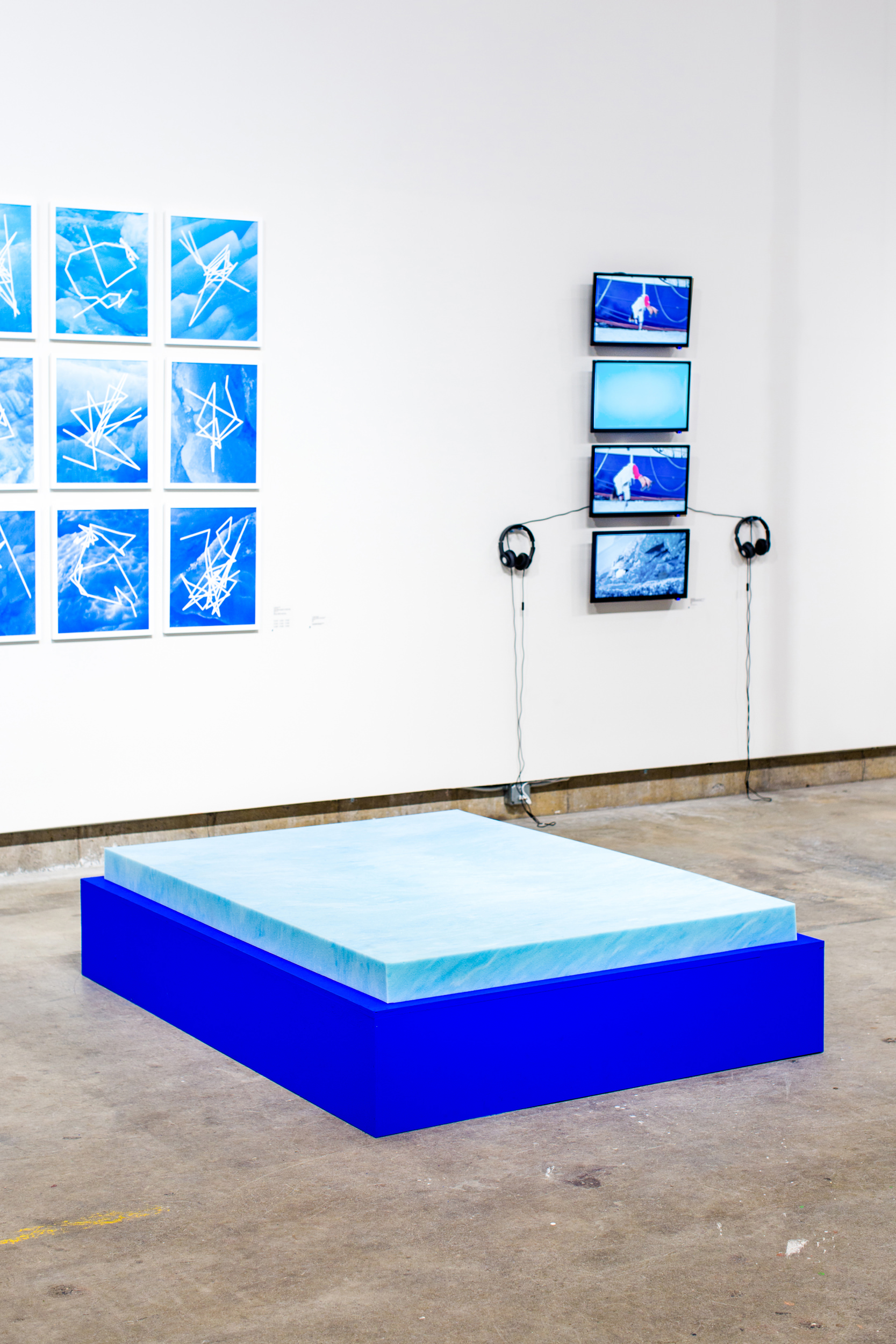 Justin Levesque, A Persistent Body, For Your Convenience, painted wood platform, memory foam, 78x57x16, 2018