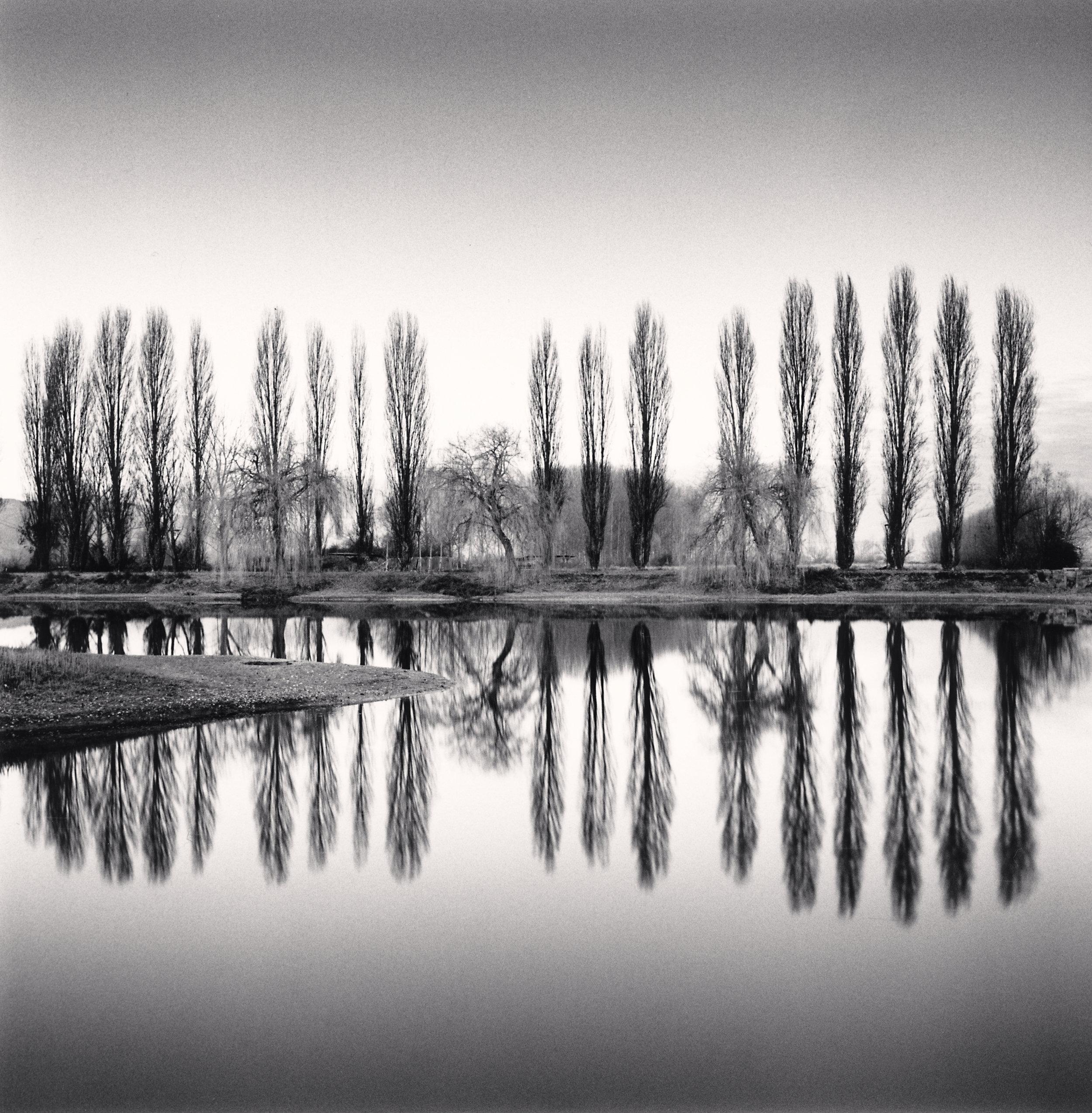 "©Michael Kenna ""Ortucchio Lake Reflection, Fucino, Abruzzo, Italy"""