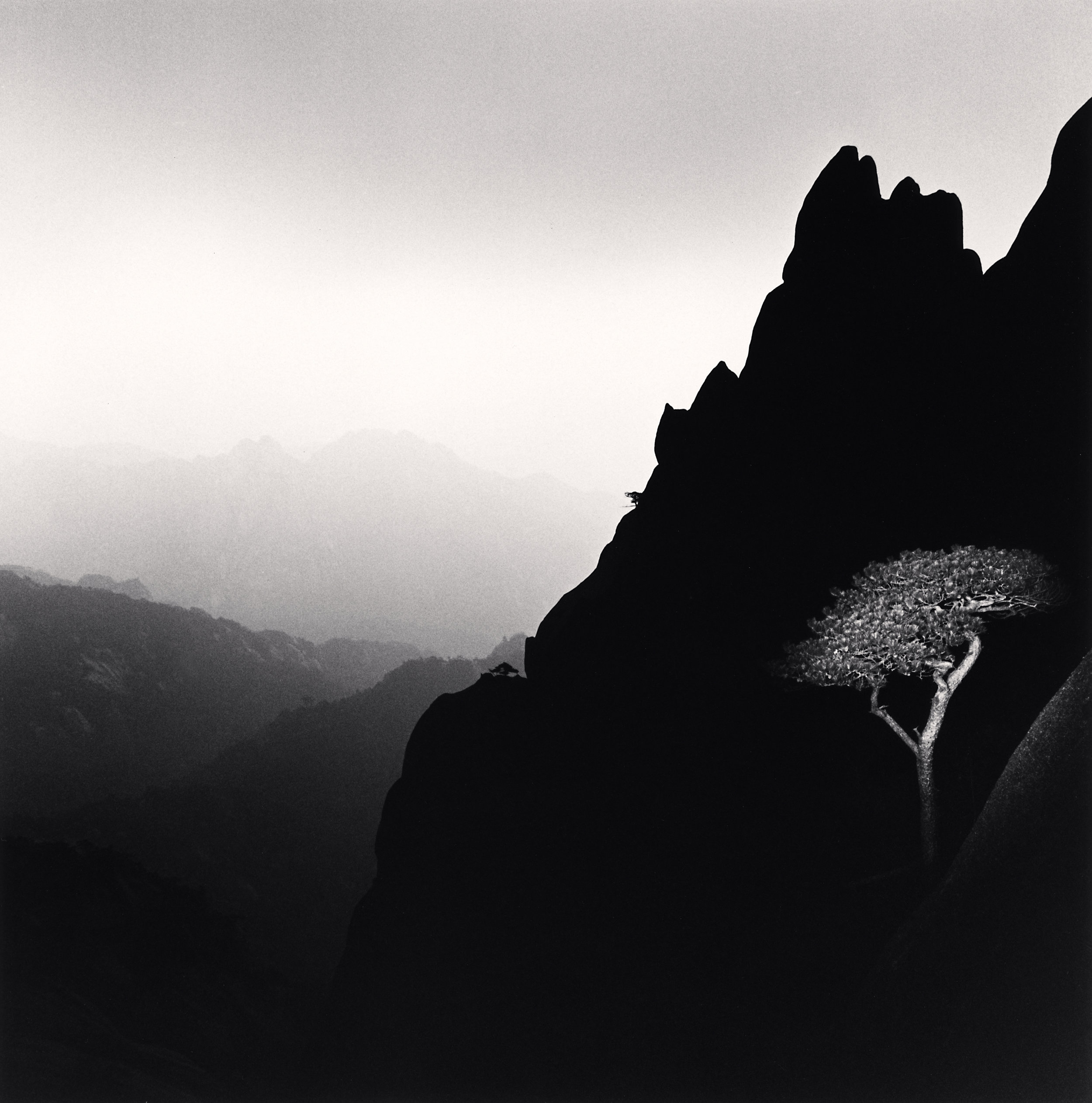 "©Michael Kenna ""Huangshan Mountains, Study 31, Anhui, China. 2009"