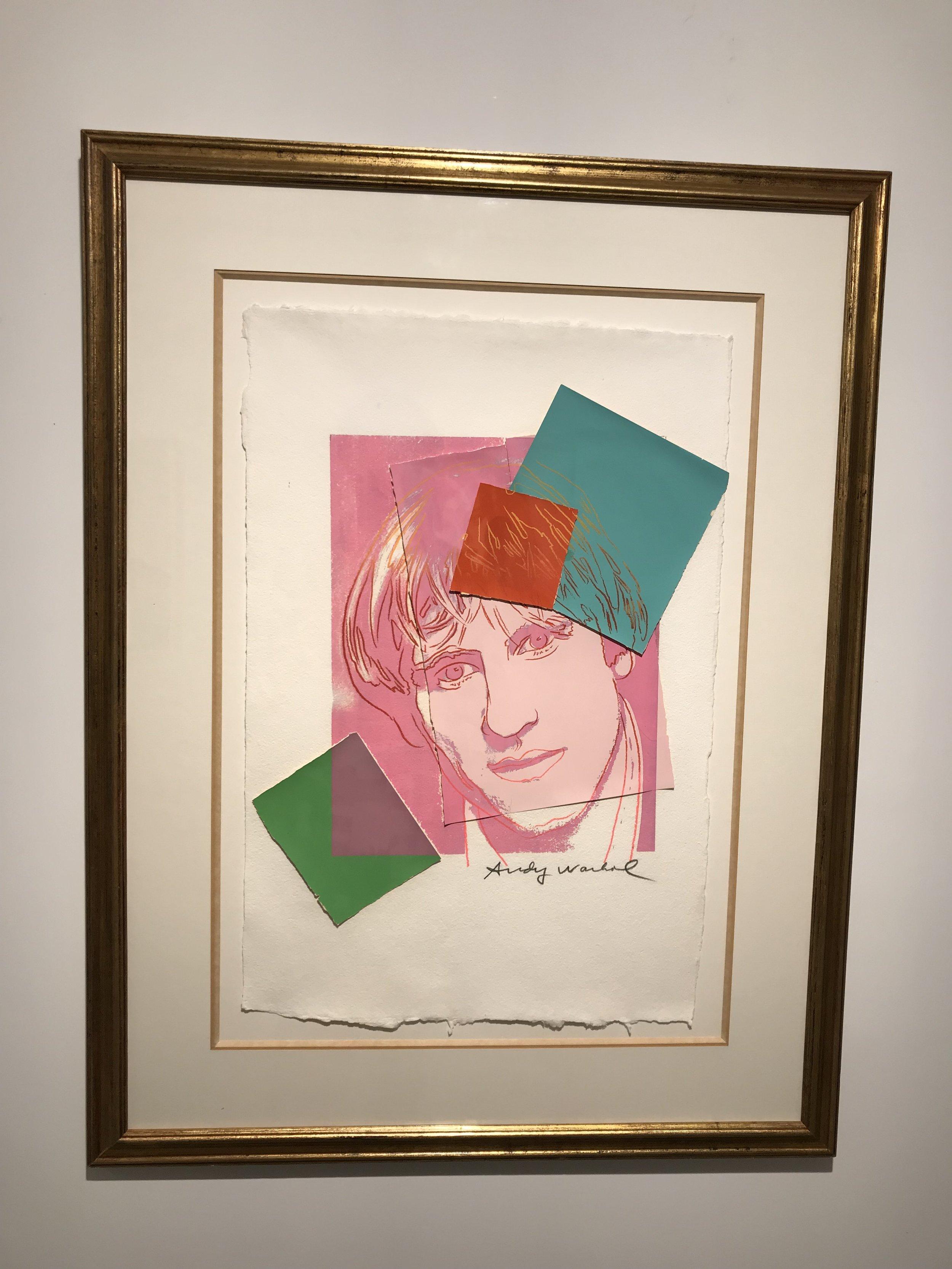 ©Gerard Depardieu  Andy Warhol, Screenprint on HMP papaer, 59.7 x 40 cm ,1986