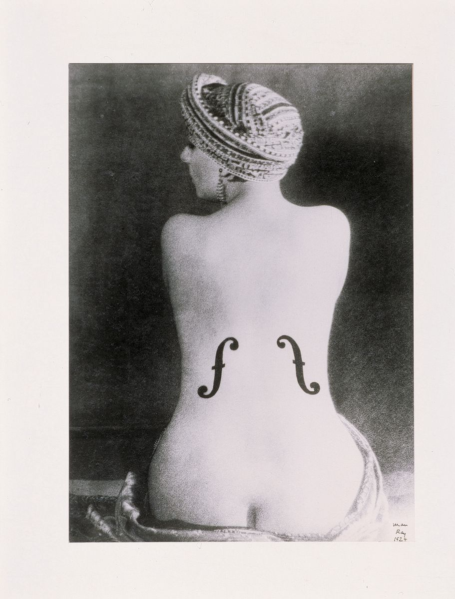 Man Ray - Ingres' Violin 1924 Silver print