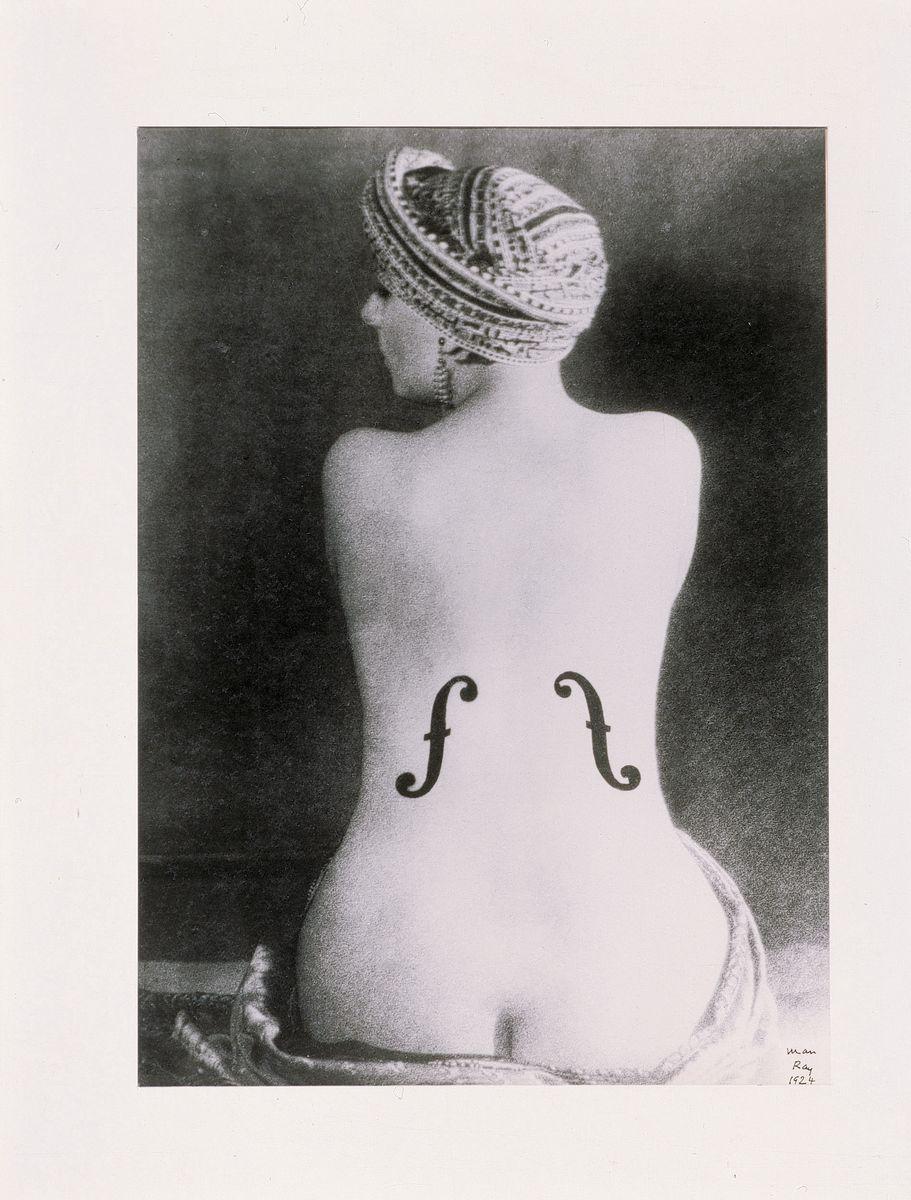 Man Ray - Ingres' Violin 1924 Silver print