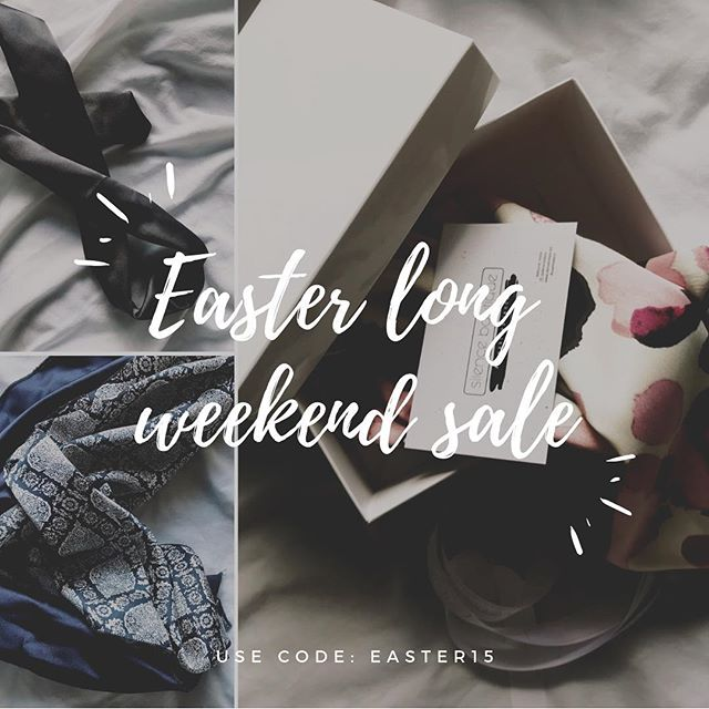 EASTER LONG WEEKEND SALE | Head to our website to receive 15% off all orders | What are you up to this long weekend? | #silenceboutique #breakthesilence #hairscarf #hairscarves #hairgoals #hairfashion #hairaccessories #madeinmelbourne #handmade #supportlocalbusiness #shop #shopping #sale #longweekend #onlineshopping #veganfriendly #scrunchies #scrunchielife #bringbackthe90s