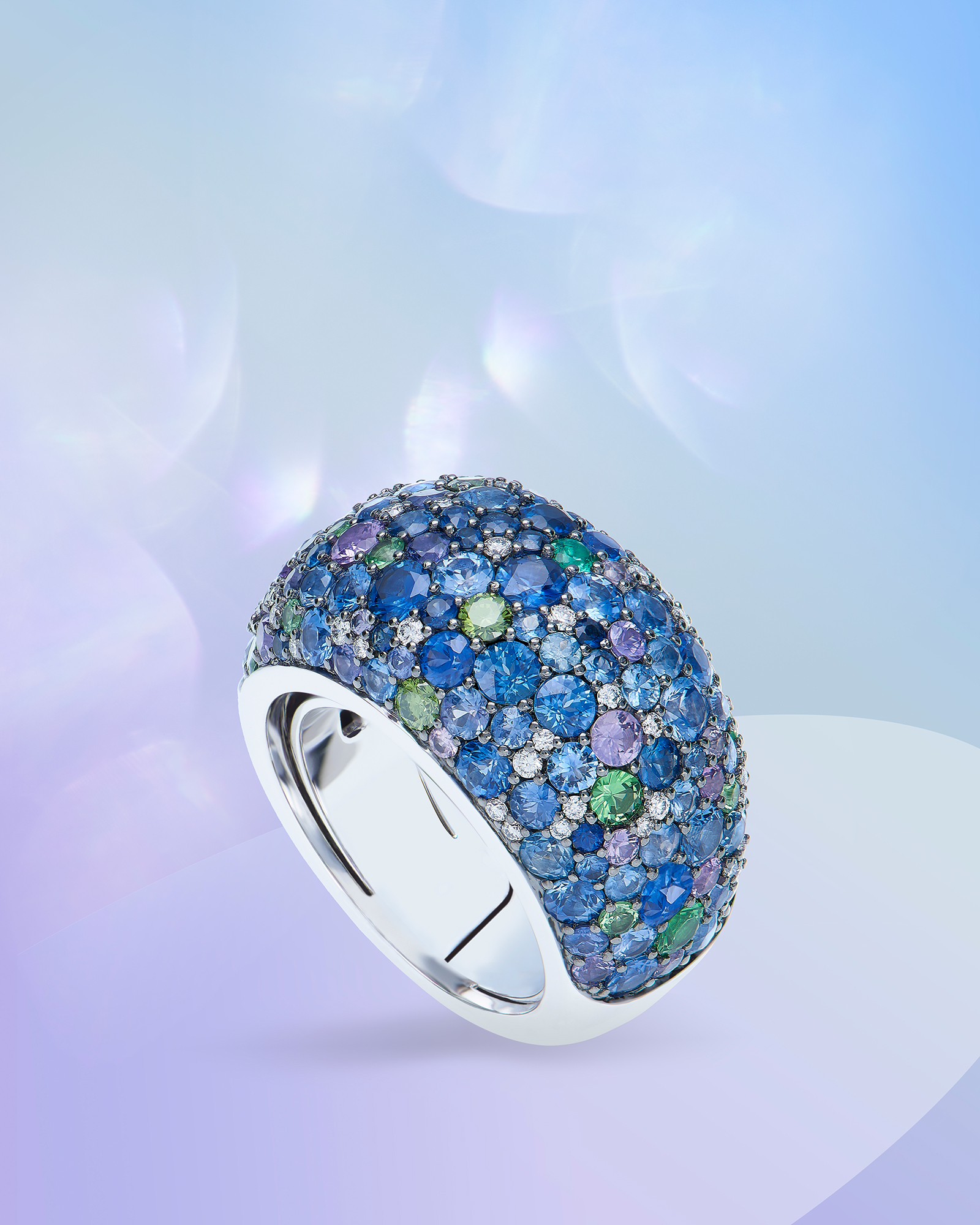 Bague or blanc 18 Ct 750/1000e