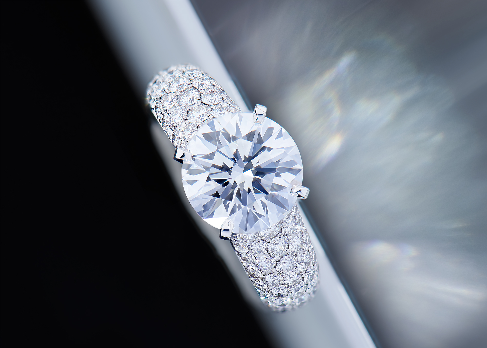 Solitaire or blanc 18 Ct 750/1000e