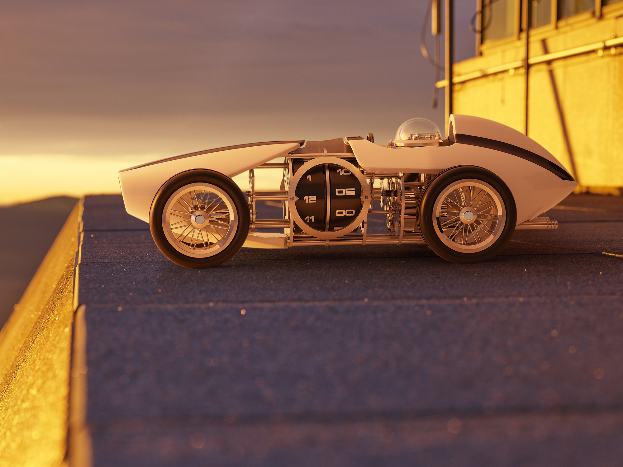 Final image of the speed car clock Time Fast D8,  here  the high resolution image