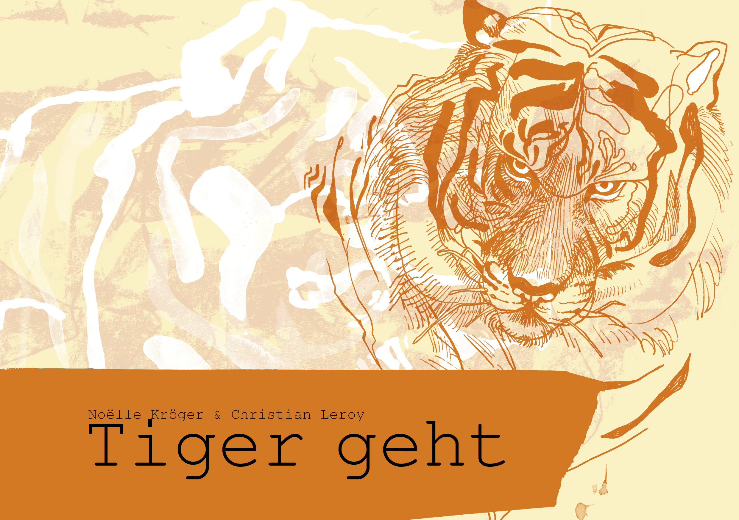 Cover design: Tiger geht 2019, ink on paper