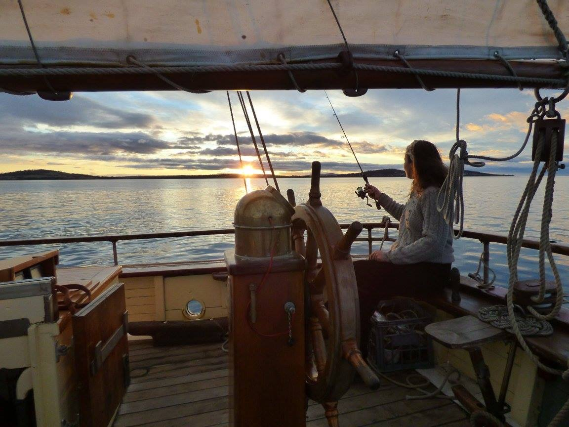 Anne-Flore - Enjoying the dawn and now sailing with Fair Transport on a beauiful ship with no engine.