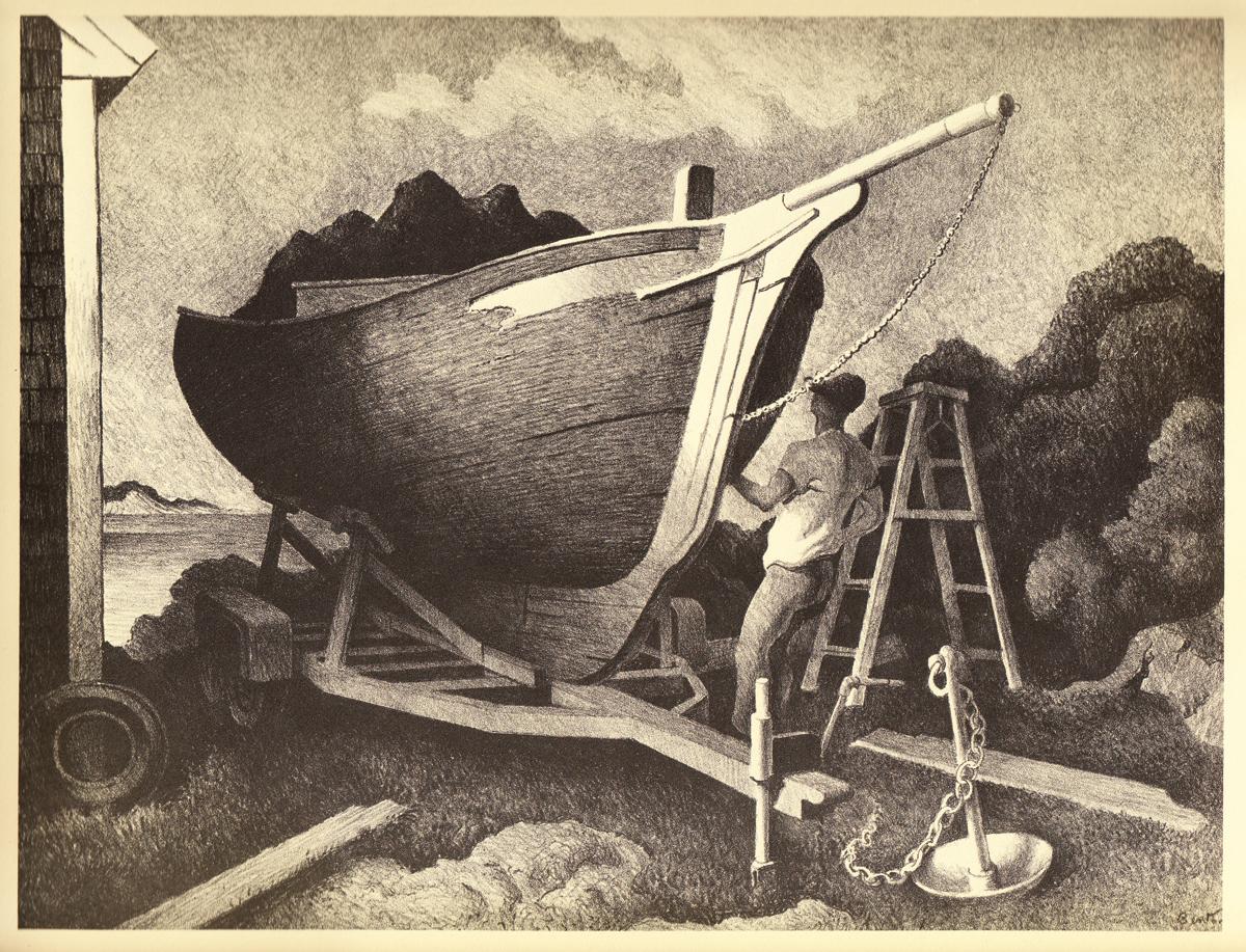 Thomas Hart Benton_Granary Gallery_artifactsmv_marthasvineyard_preparing.JPG