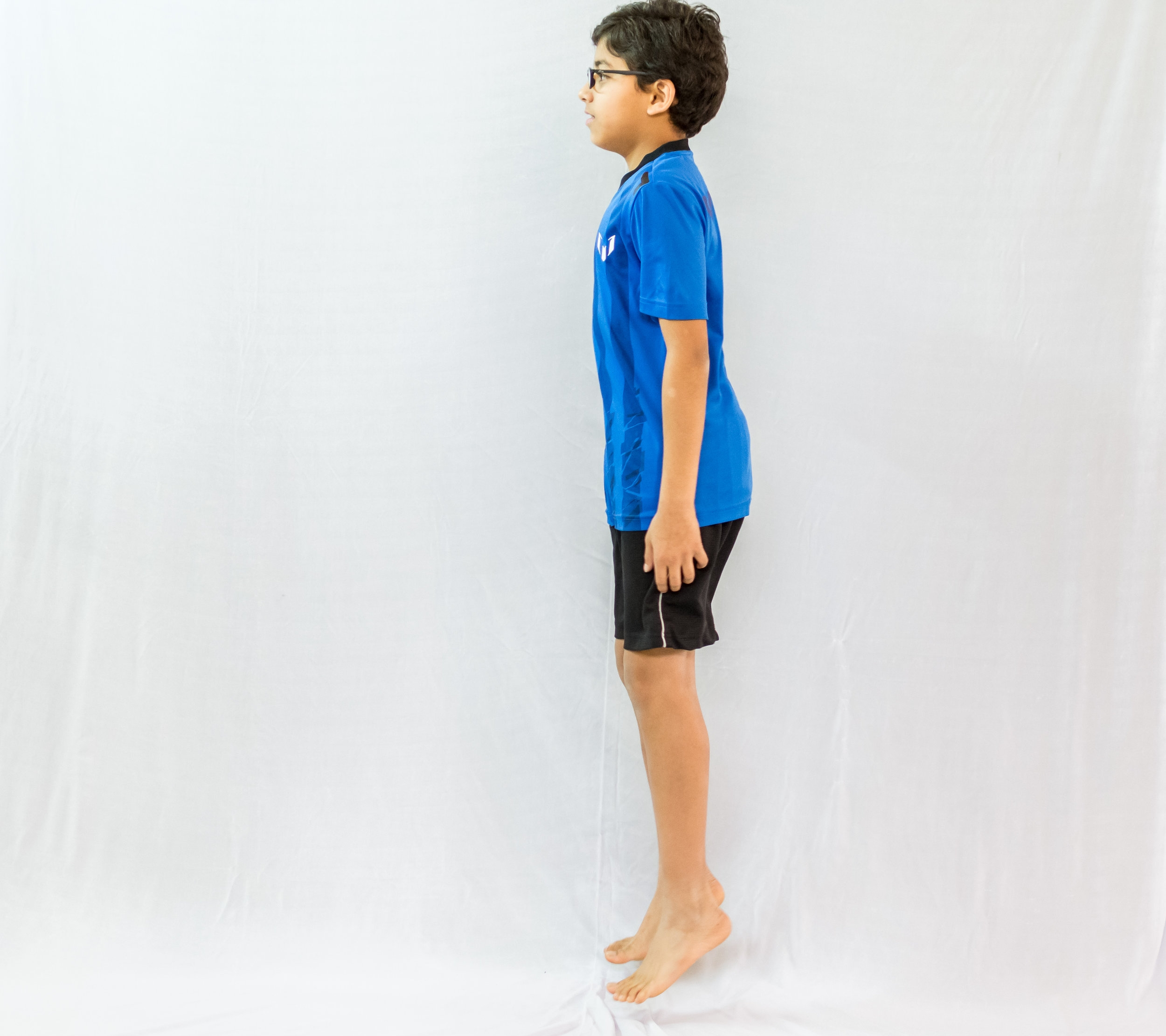 Skipping Jacks - Stand tall like a puppet. Now imagine that puppet is being pulled up by the string.Slowly start to skip up and down in the same spot, landing softly on the ground such that you can't hear yourself.At all times maintain a tall posture.