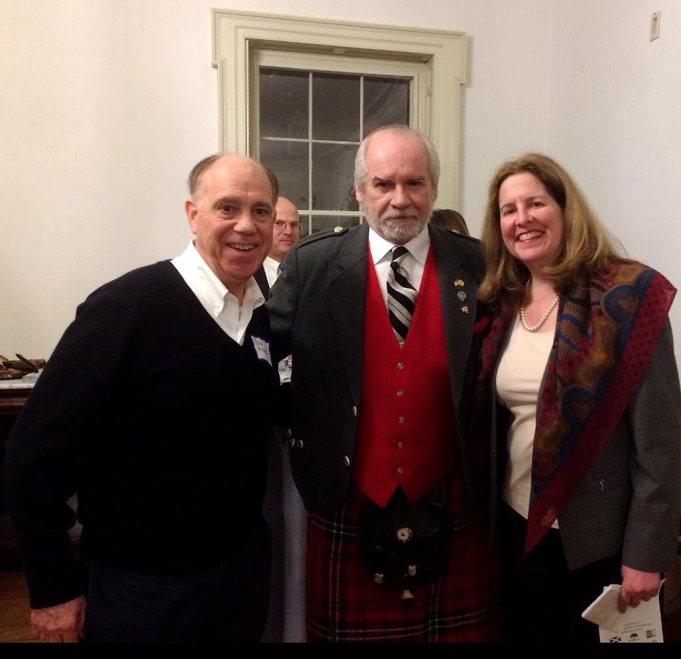 (L - R) Committee member Paul, Guest & Mayor Silberberg.