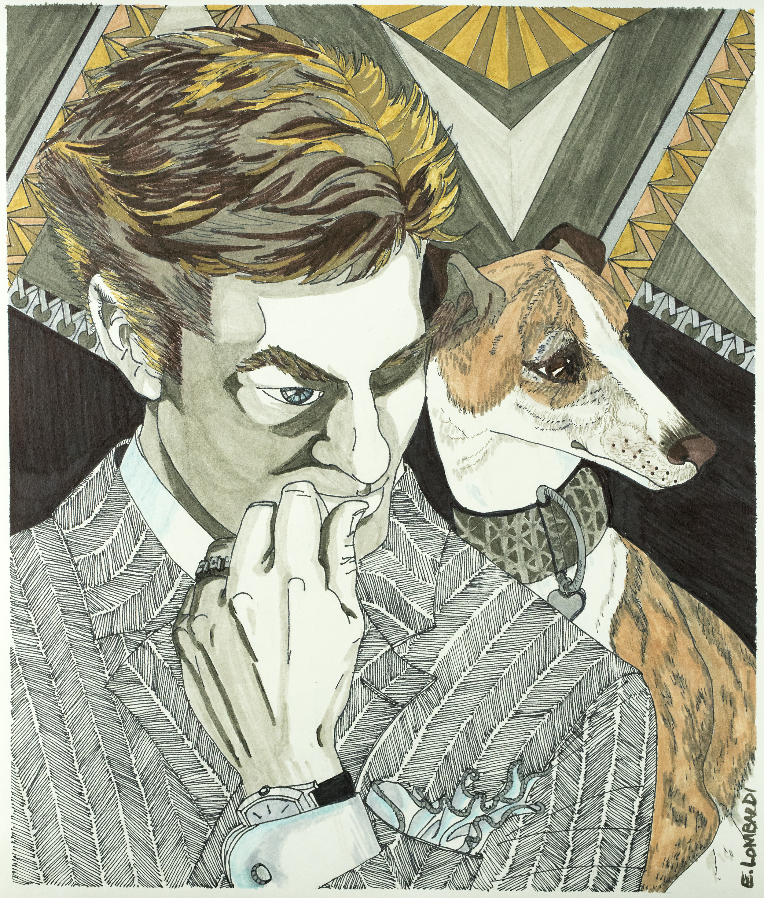 Portrait of David and Erté