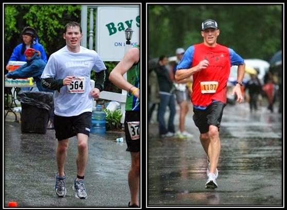 (On the left) AJ Cohen, Harvard Pilgrim Half Marathon, May 8th, 2010. (On the right) Eric Cohen, Hamptons Marathon, Fall 2008.