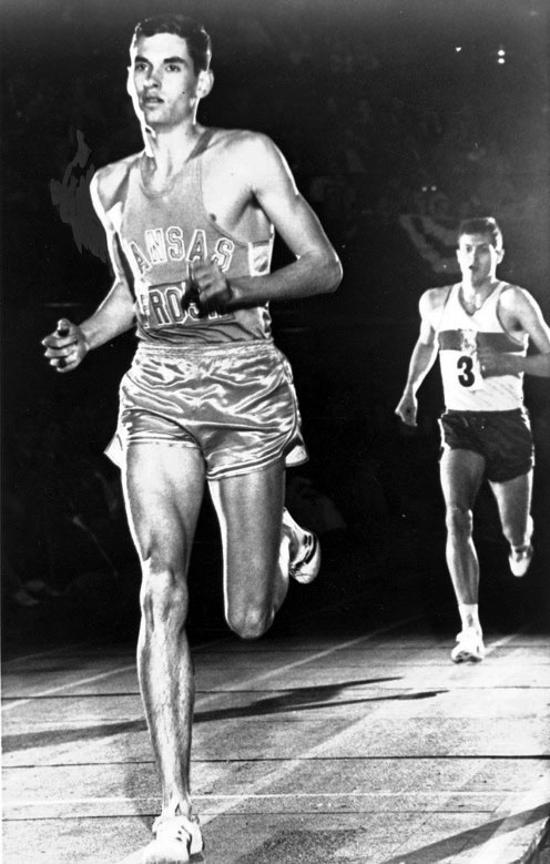 Jim Ryun circa 1966, with his trademark sprint to the finish line.