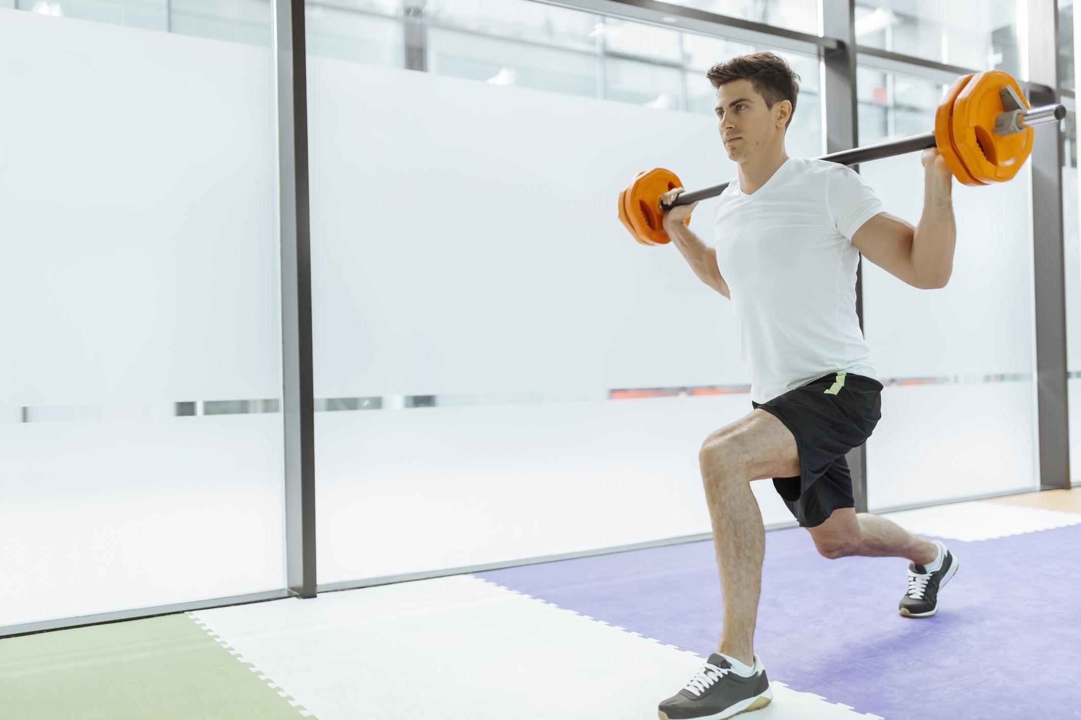 runner barbell lunge