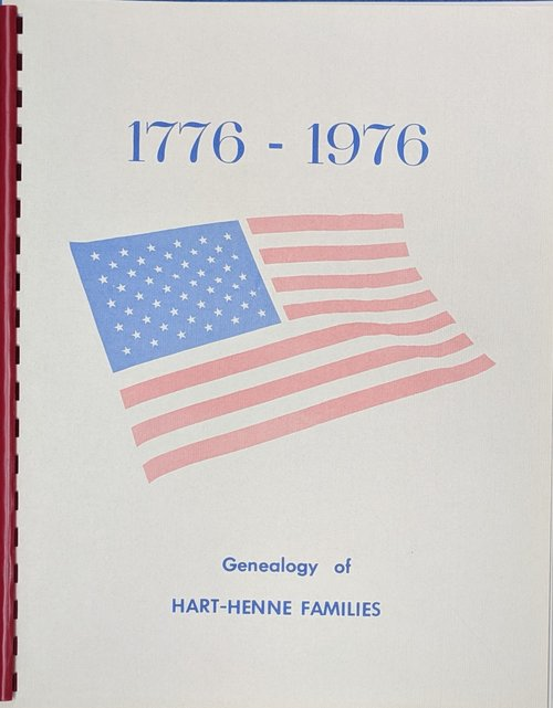 Hart Family Tree (Genealogy of Hart-Henne Families)   $4