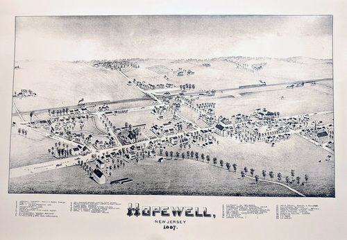 Map of Hopewell  (Bird's Eye View)  $10