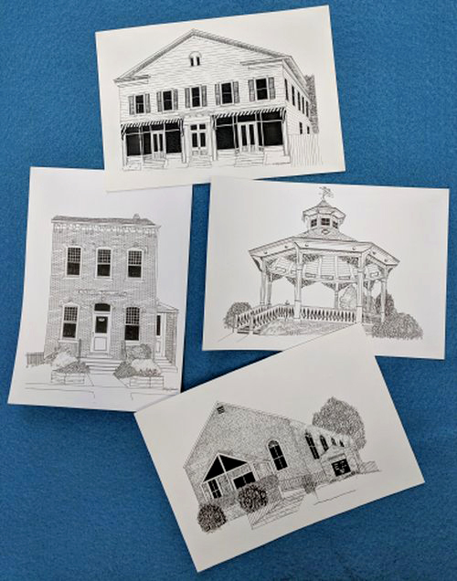 Museum Post Cards  (black & white)  $.50 each
