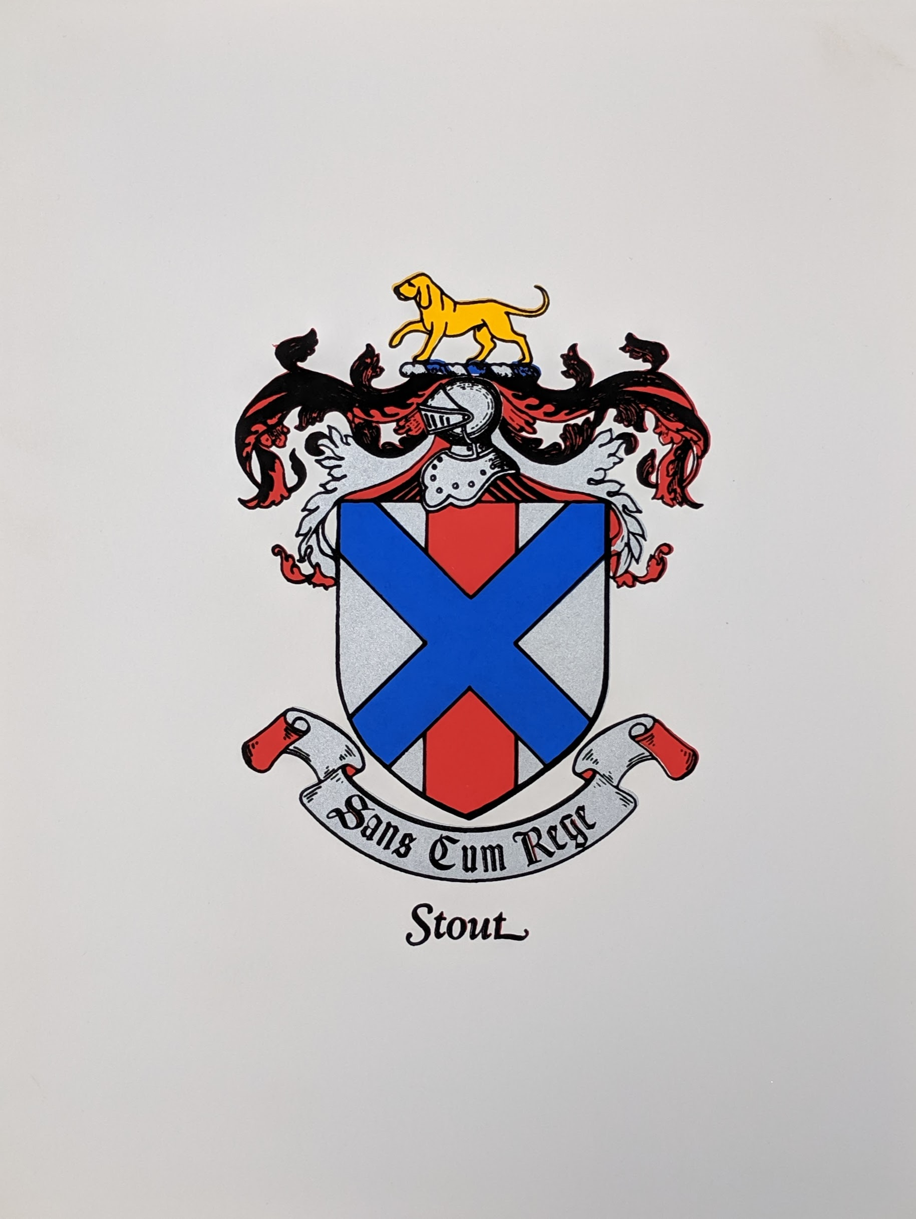 Stout Family Coat-of-Arms   $3