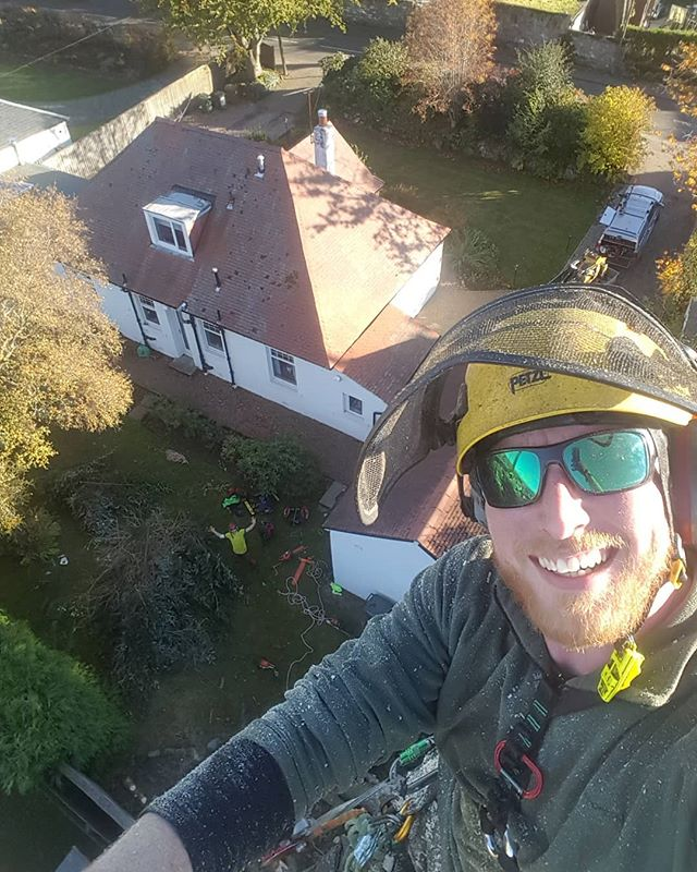A cheeky end of day selfie, props to @niall_n_trees_me for some great ropework in a tight spot! #teamworkmakesthedreamwork