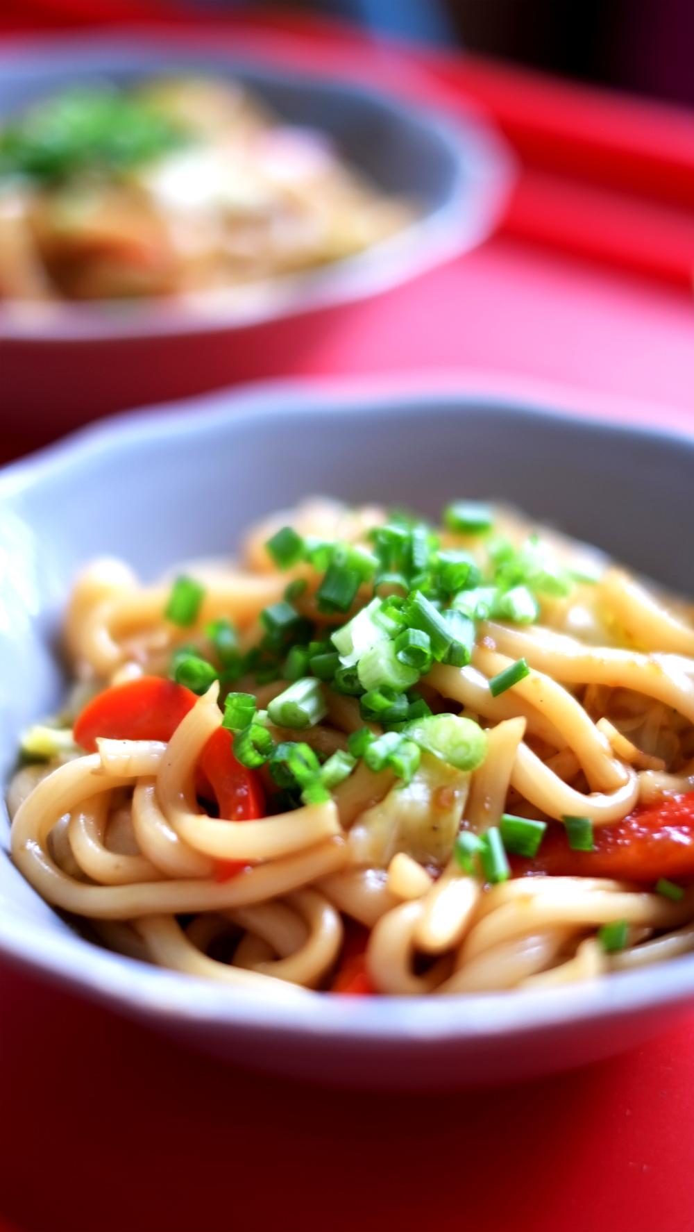 Vegetarian Yaki Udon