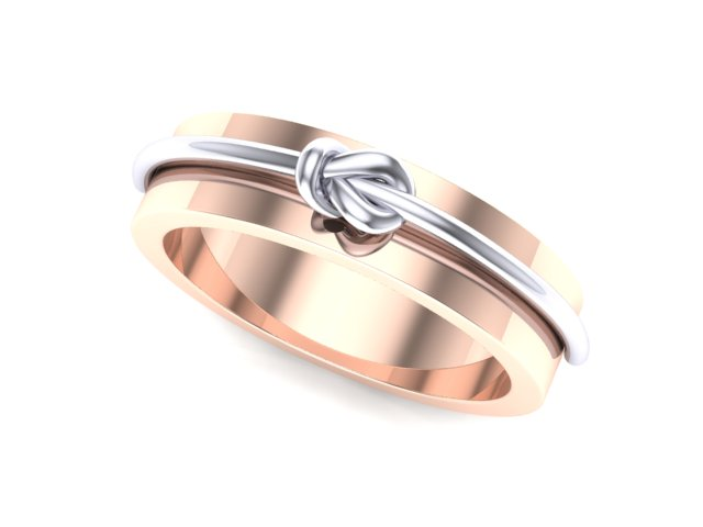 5mm Rose Gold with White Gold Knot