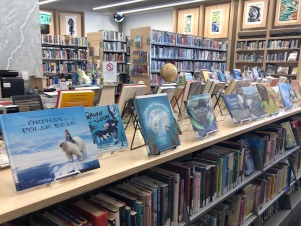 I spent an afternoon visiting with the  librarian in Nome  and just fell in love with the space and the number of books about Alaska cultures.