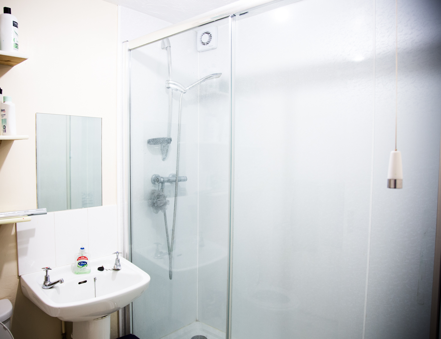 Modern clean bathroom and shower rooms