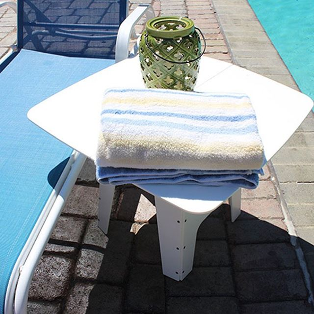Poolside!! Snappytables work great!! #pool #watersports #table #drink #food #perfect #plastic #portable #fun #outdoors #beach #share #anywhere #anytime #swimming #party