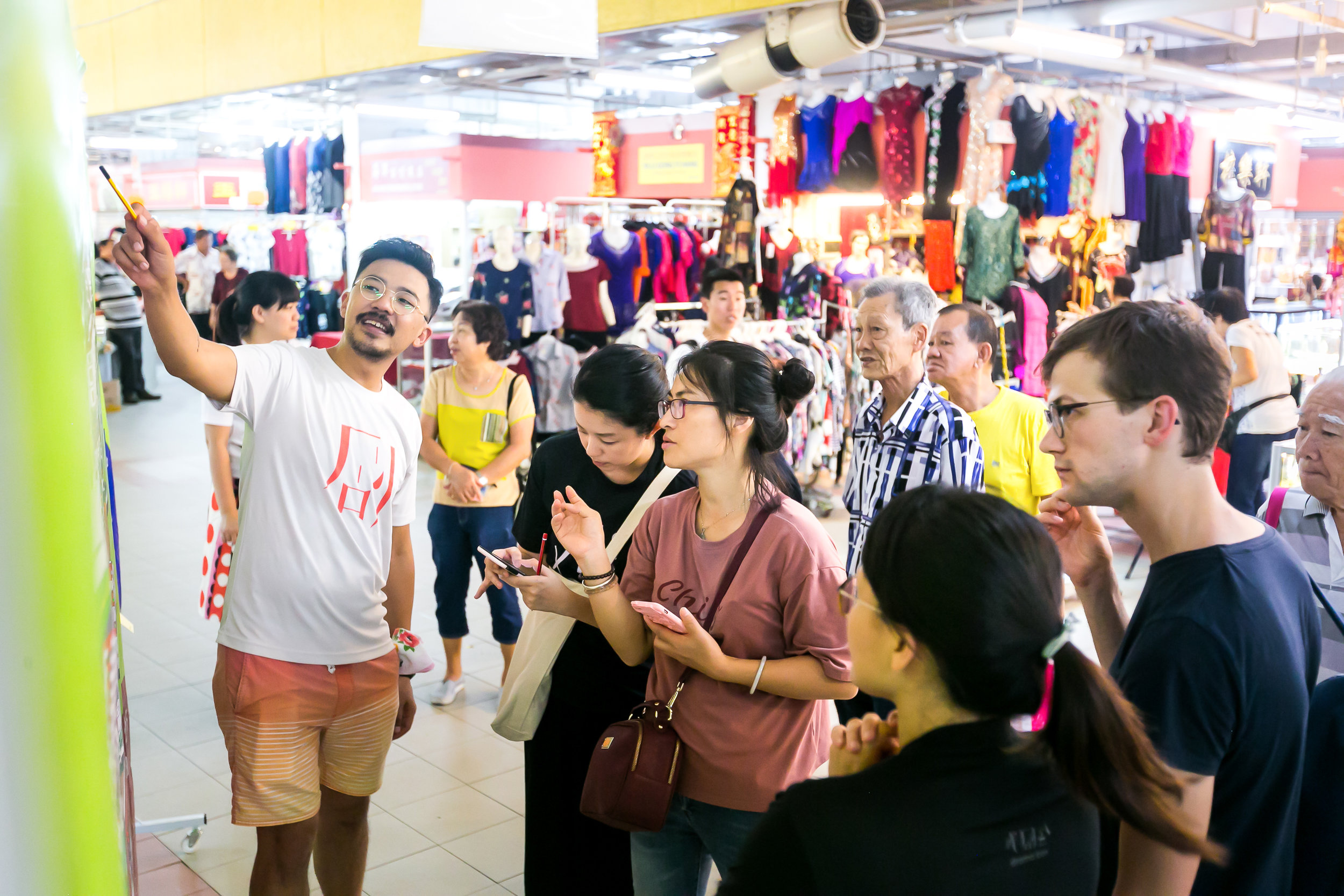 Passerbys sharing their insights on Chinatown during our public engagement activity