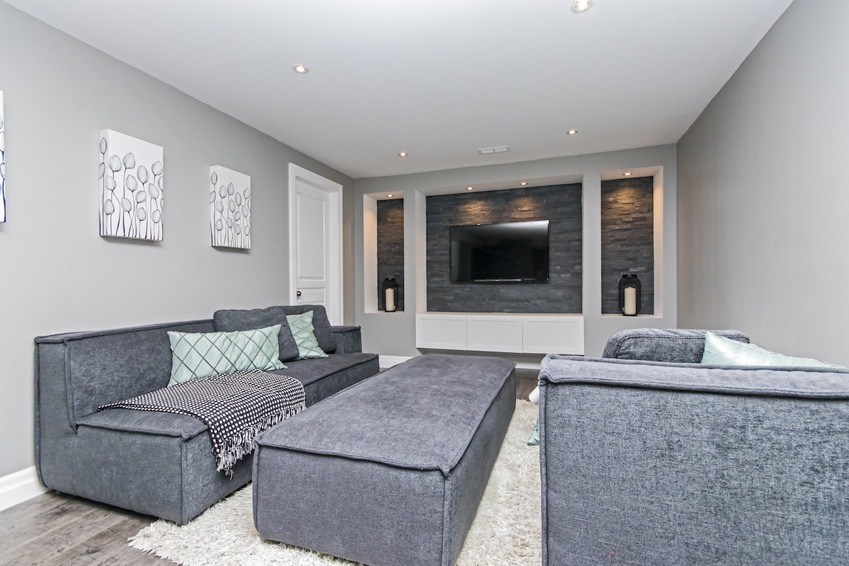 3344 Moses Way - Basement Living Room - Alternative Angle