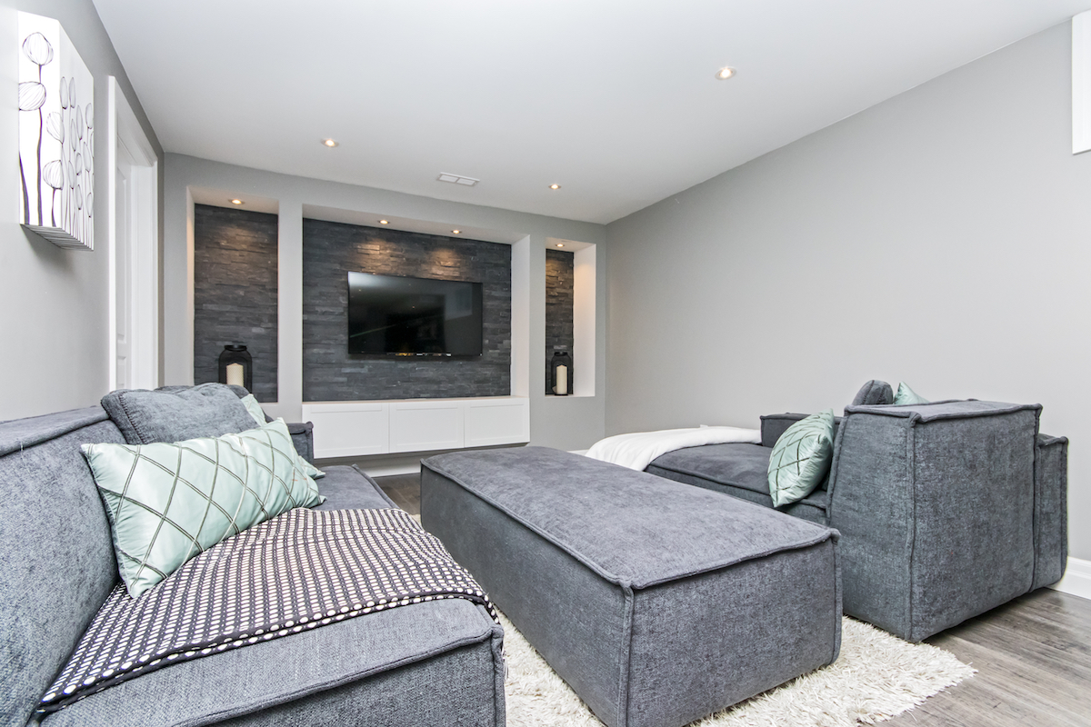 3344 Moses Way - Basement Living Room - Side