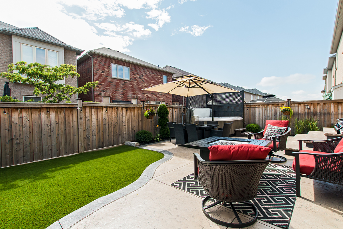 3346 Moses Way - Tiled patio to view of grass lawn