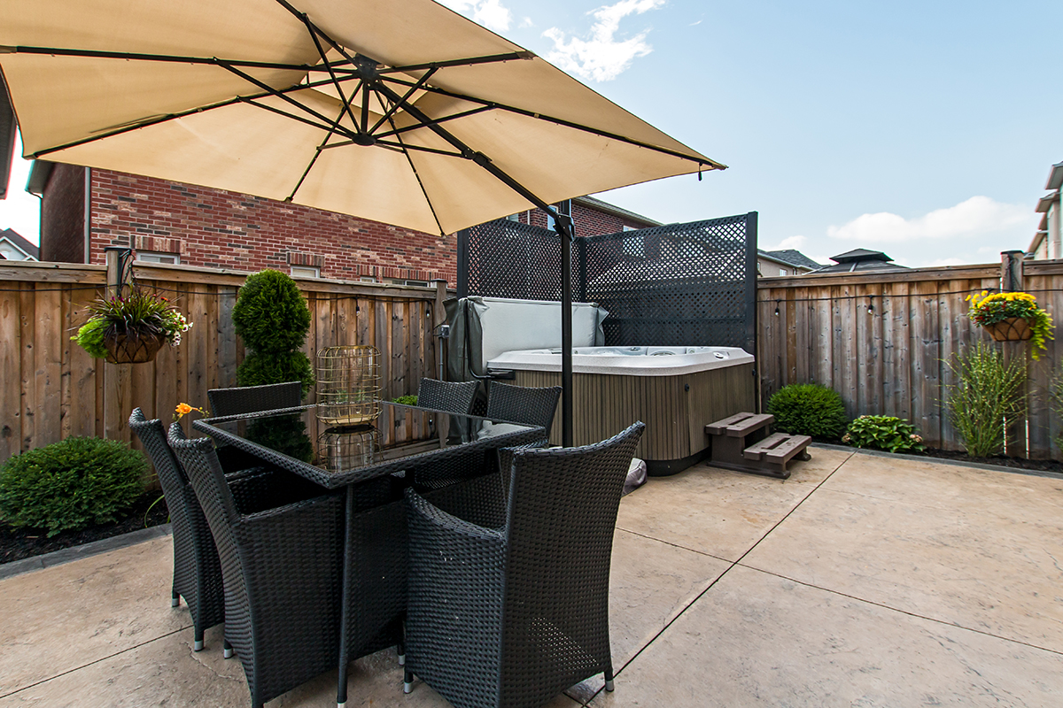 3346 Moses Way - View of back yard dining area & hot tub