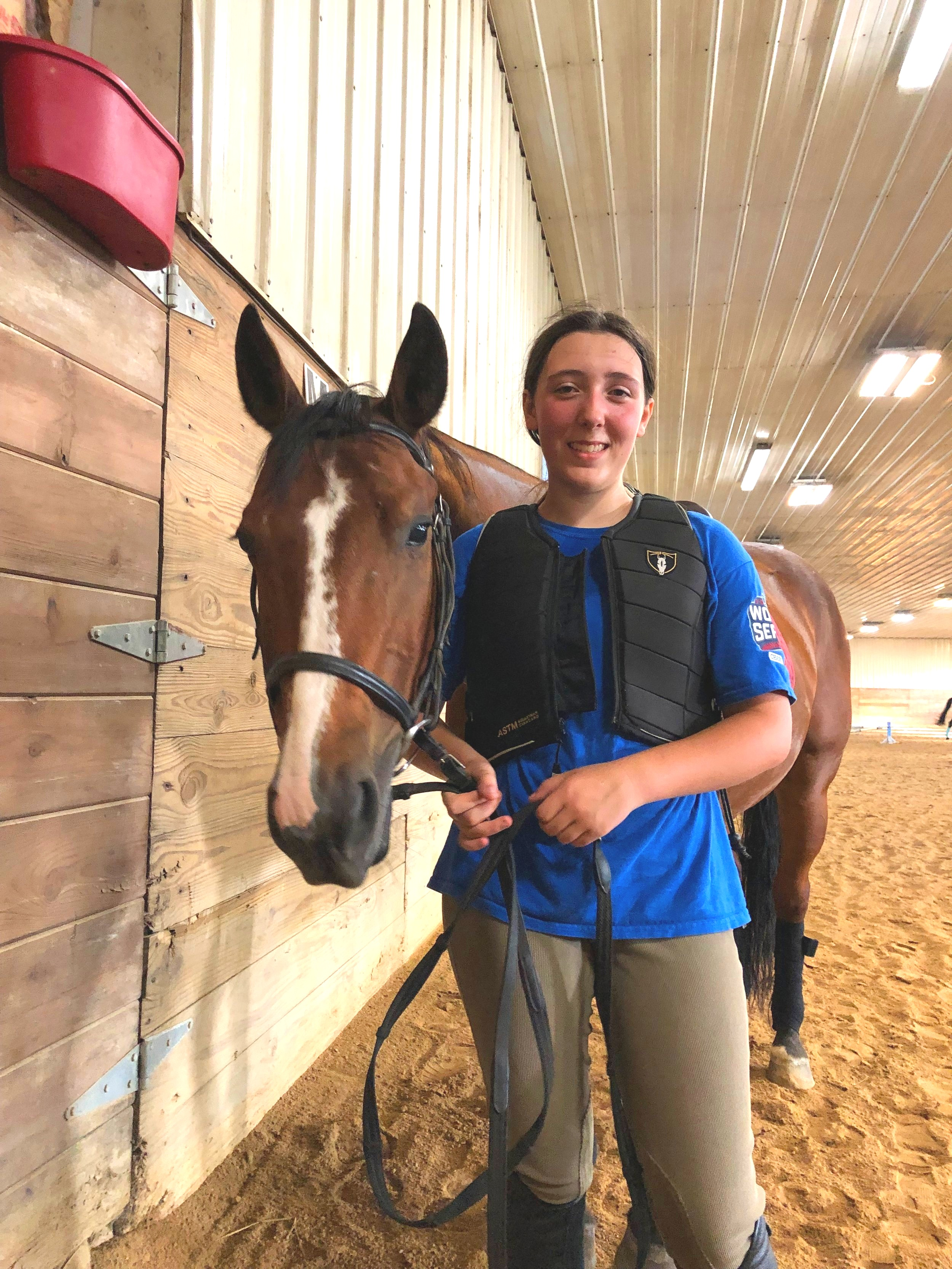 Hi! My name is Amanda and I am 15 years old. My favorite horse is Tucker and I also have a lot of love for Shilo and Freckles. I have been riding at Heavenly Horses for 10 years. I love to jump and do speed. I also love to see new riders come and learn new things and improve with every lesson.